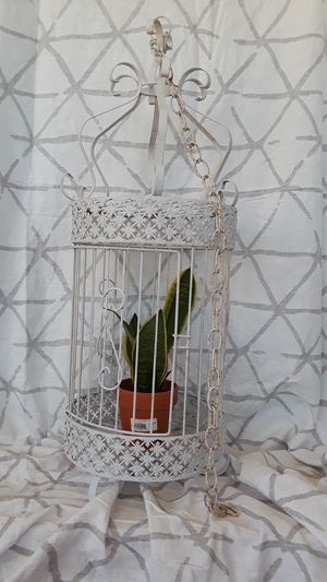 Metal shabby chic birdcage for Sale in Chula Vista, CA