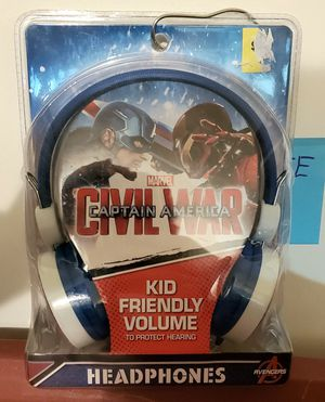 Marvel Civil War Captain America Kids Headphones for Sale in Waterford Township, MI