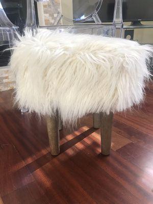 World Market Faux Fur Stool for Sale in Palo Alto, CA