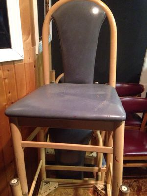 7 blue light woof tall back chairs for Sale in Caledonia, MI