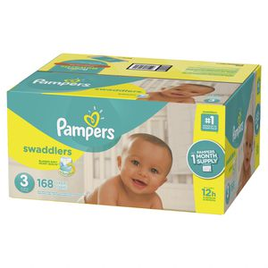 Pampers swaddlers size 3 168 ct for Sale in Miami, FL