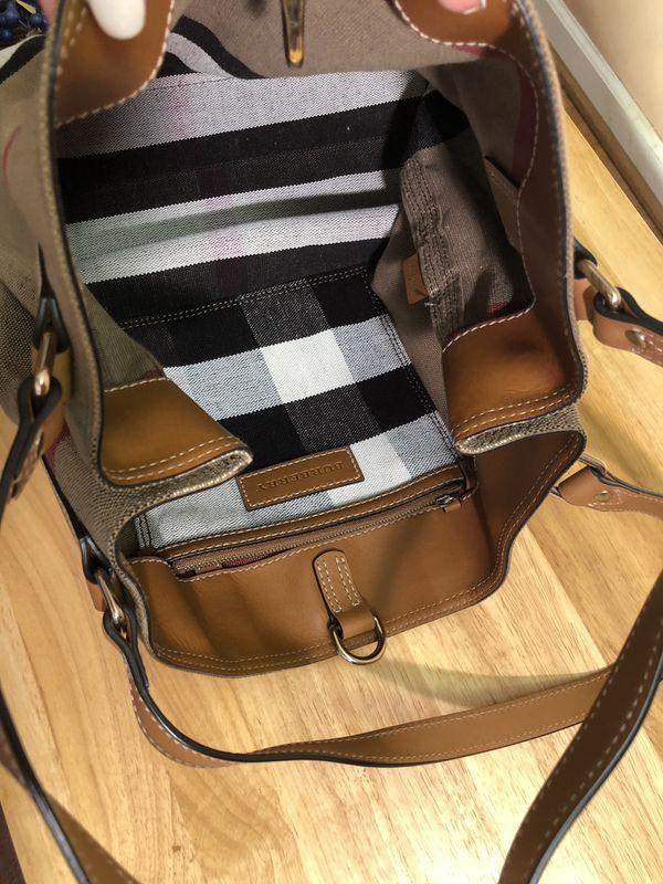Burberry Canvas Check Medium Ashby Hobo Bag
