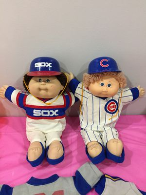 1985 & 1986 Vintage Cabbage 🥬 Patch Kids Chicago Cubs & White Sox Dolls - Very Rare & in Great Condition! for Sale in Buford, GA
