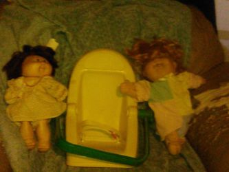 Old Cabbage Patch Kids With Car Seat for Sale in Fairmont,  WV