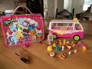 Shopkins, shopkins ice cream truck and carrying case for Sale in Las Vegas, NV