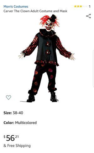 Clown Halloween Carver the clown Costume Price is Negotiable for Sale in San Bernardino, CA