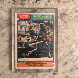 1976 Hank Aaron Card for Sale in Ripon, CA