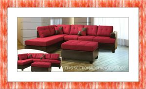 Red sectional brand new free ottoman and delivery for Sale in Rockville, MD