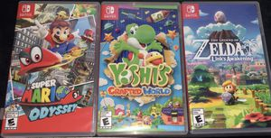 Super Mario odyssey & yoshis crafted world Nintendo switch games for Sale in Henderson, NV