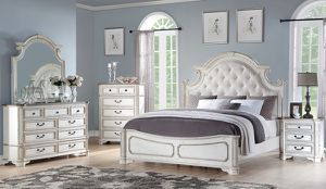 (JUST $54 DOWN) Brand New Tufted Queen Bedroom Set (Financing and Delivery available) for Sale in Carrollton, TX