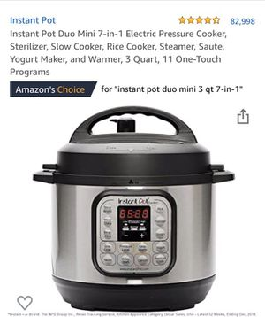 Instant Pot Duo Mini - Pressure Cooker for Sale in New York, NY