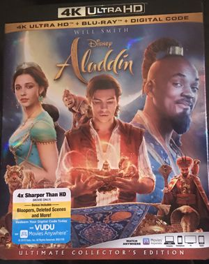 Aladdin (2019) 4K + Blu-ray combo pack for Sale in Wadsworth, OH