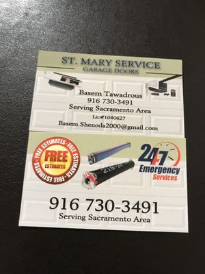 All parts for garage door and opener for Sale in Sacramento, CA