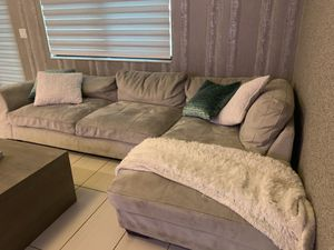 Grey microfiber couch from City Furniture for Sale in Miami, FL