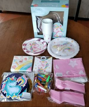 Unicorn Party Supplies Pack | Serves 16 Guests for Sale in Oroville, CA