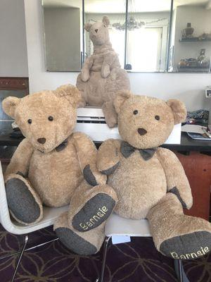 Stuffed teddy bears and Kangaroo for Sale in Portland, OR