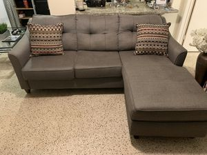 """Used Grey Couch """"Must Go this week"""" for Sale in Oakland Park, FL"""