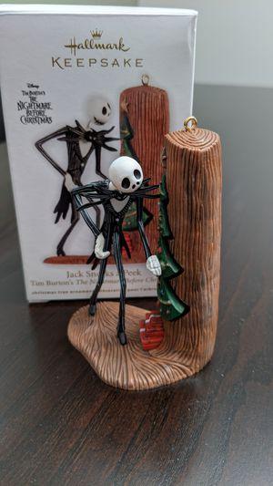 Nightmare Before Christmas Ornament - Jack Sneaks a Peek for Sale in Dunwoody, GA