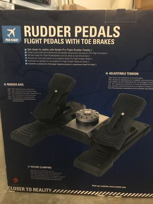 Saitek yoke and rudders never opened. for Sale in Gilroy, CA