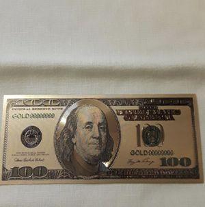 24k 100 bill for Sale in Sanger, CA