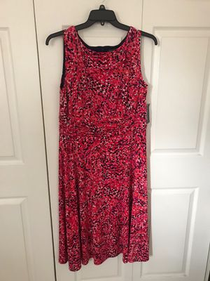Brand new jessica HOWARD PINK PRINT SLEEVELESS DRESS RUC size 16w (pick up only) for Sale in Alexandria, VA
