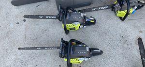 """Ryobi gas chainsaw 18 """" for Sale in Fontana, CA"""