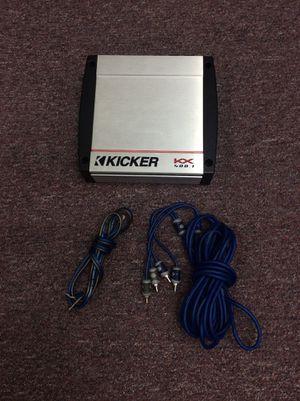 Kicker KX400.1 800W Peak Car Amp w/ Audio Cables for Sale in Laurel, MD