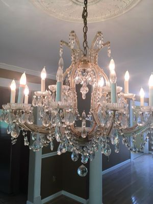 Medium size chandelier with crystals for Sale in Fairfax, VA