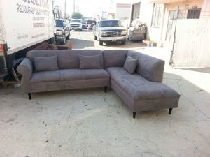 NEW 9X7FT CHARCOAL FABRIC SECTIONAL COUCHES for Sale in City of Industry, CA