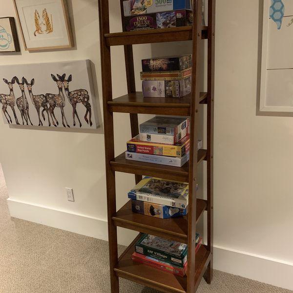 Tall Bookshelf - Sturdy Wood