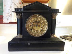 Ansonia Mantle Clock w/Open Escapement Ornate Dial for Sale in Palmyra, NJ