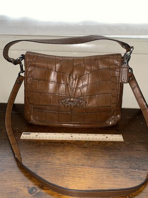 Coach Brown Crocodile Messenger Bag for Sale in Los Angeles, CA