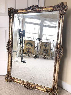 "Large french Antique wooden mirror 44""X32"" ""SERIOUS BUYERS ONLY "" for Sale in Gainesville, VA"