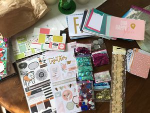 Paper craft -stickers, project life cards, sequins for Sale in Addison, TX