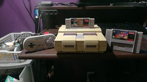 Super Nintendo system WITH/ Aladin and Street fighter. for Sale in Orange, CA
