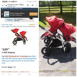 Double jogging stroller for Sale in West Seneca, NY