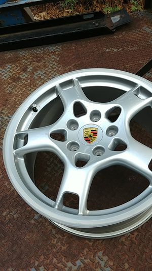 4 Porsche s wheels off 04 Cayman, believe they are 19x 8. for Sale in Lakeside, AZ
