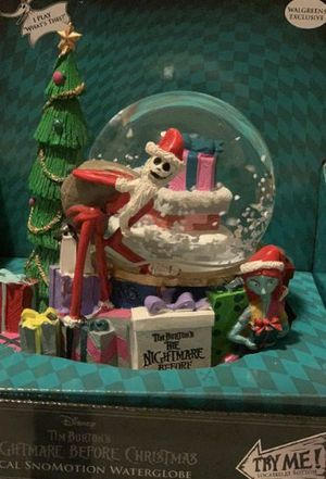 Nightmare before christmas snow globe for Sale in NEW PRT RCHY, FL