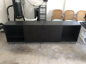 Black TV, Storage Combination for Sale in Dallas, TX