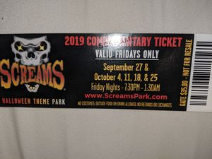 Screams tickets for Sale in Euless, TX
