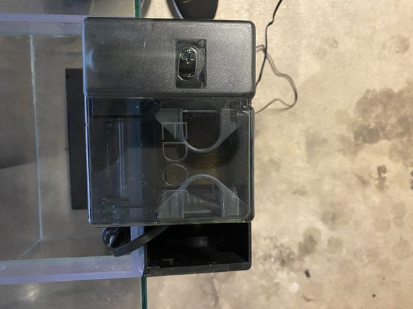12 Gallon Fluval Edge 2.0 Fish Tank Aquarium W/ Led Light Heater Power Filter Driftwood