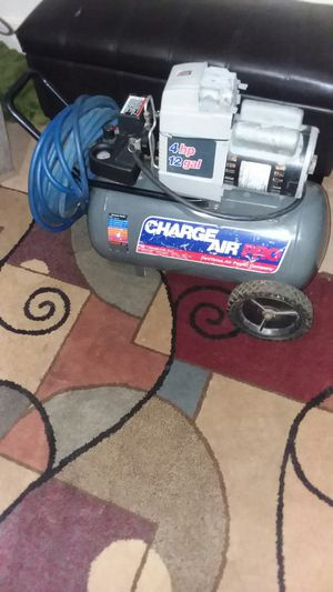 4 HP AIR COMPRESSOR WITH 50 FOOT AIR HOSE, ASKING $190 for Sale in Fort Wayne, IN