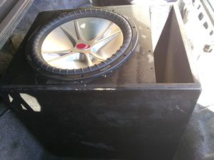 15 inch subwoofer box ported tuned to 35 hz ***box only** $35 for Sale in Mesa, AZ