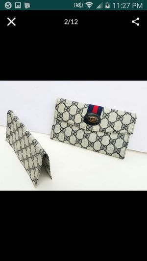Vintage Gucci web Wallet and Check cover set for Sale in Arlington, TX