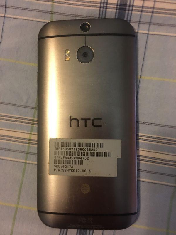 HTC One 8. Cell phone smart phone. Has infired technology Att network phone