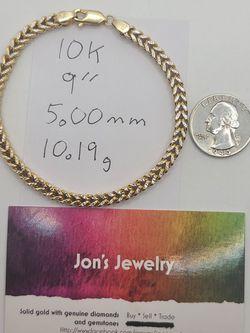 10k Gold Diamond Cut Franco Link Bracelet for Sale in Croydon,  PA