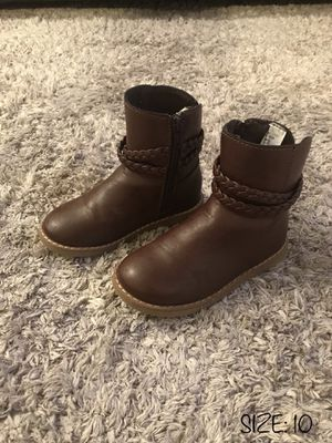 LIKE NEW‼️ BABY GAP BROWN BOOTS - SIZE 10 - TODDLER BABY GIRL for Sale in Houston, TX