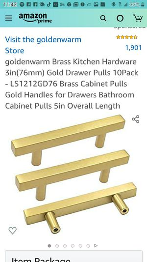 Brass kitchen gabinet pulls for Sale in Las Vegas, NV