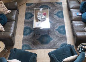 Modern Grey & Teal Indoor Area Rug for Sale in Katy, TX