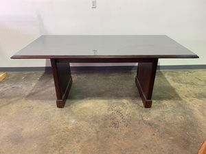 Mahogany with Glass Top Board Room Table or Desk for Sale in Allentown, PA